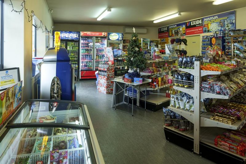 Irwin Motors offers a wide selection of drinks, snacks and other convenience items.