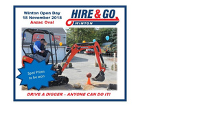 Winton Open Day - 18 November 2018 - FREE - Drive a Digger